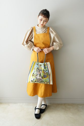 LILOU+LILY Apron One piece  (Orange)