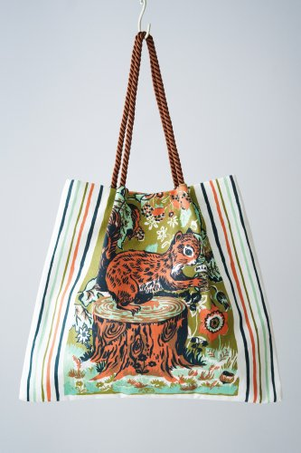 Nathalie Lete × mYmI Tote bag (Squirrel)