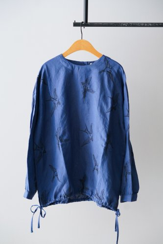 LILOU+LILY embroidery Blouse  (Blue)