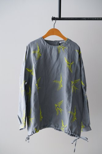LILOU+LILY embroidery Blouse  (Gray)