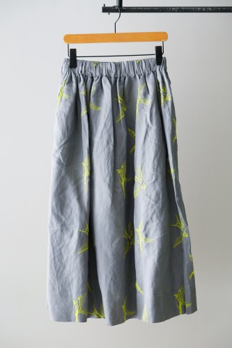 LILOU+LILY embroidery Skirt  (Gray)