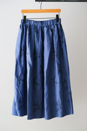LILOU+LILY embroidery Skirt  (Blue)