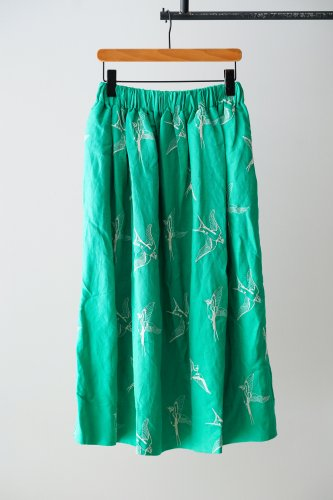 LILOU+LILY embroidery Skirt  (Green)