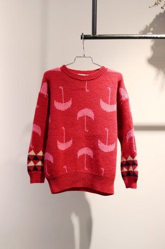 【sale】BOBO CHOSES Sweater(Red)-kids-6-7Years