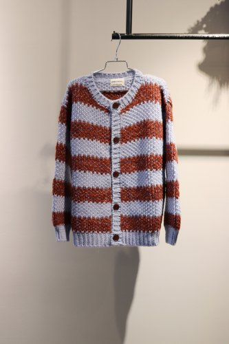 【sale】BOBO CHOSES Knit cardigan(Purple×Brown)-kids-10-11Years