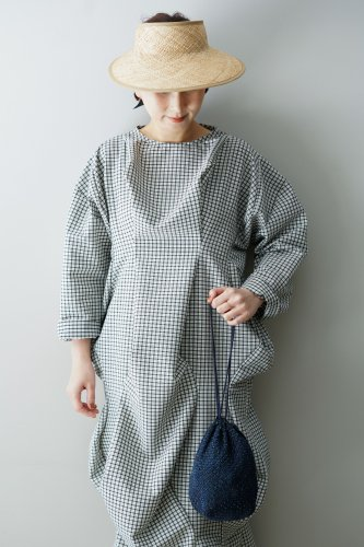 HOUGA Drape One piece (Checked)