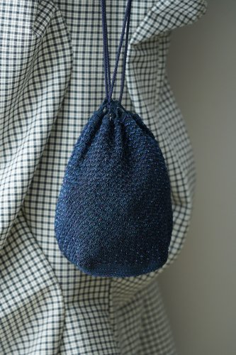 TITTI BOUTIQUE antique&vintage Bucket bag(Blue)