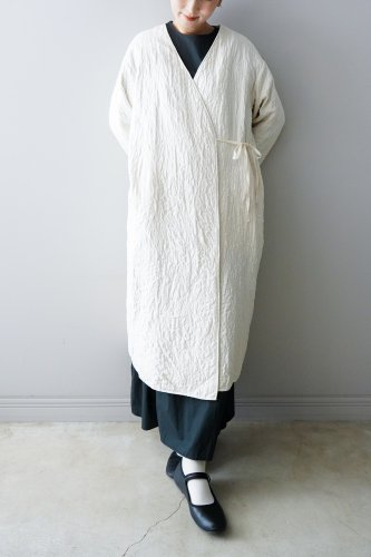 Heriter Quilting gown  (Off-white)
