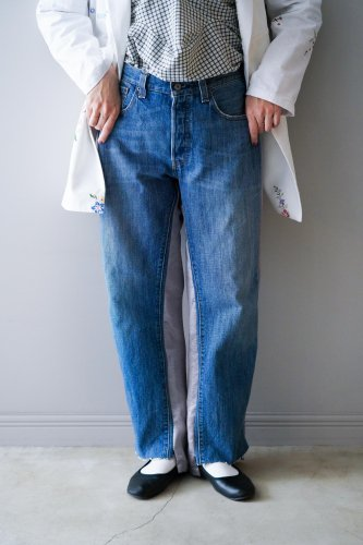 YEAH RIGHT!! Denim pants  (Gray)