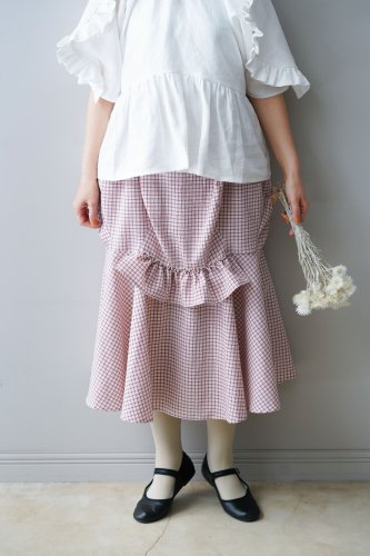 HOUGA Mary skirt (Pink-Checked)