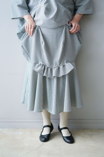 HOUGA Mary skirt (Black-Checked)