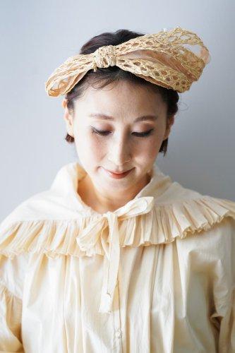 バラ色の帽子 Head dress(natural)