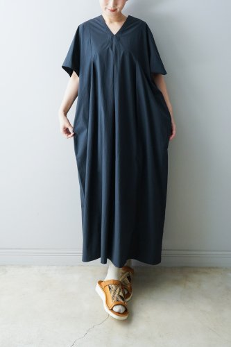 WONDER FULL LIFE Cotton V-neck One-piece(DarkNavy)