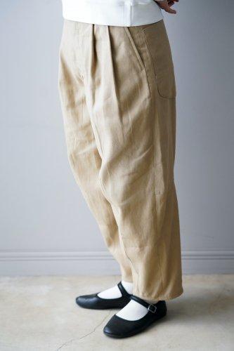 ASEEDONCLOUD Linen-Cotton Pants  (Beige)