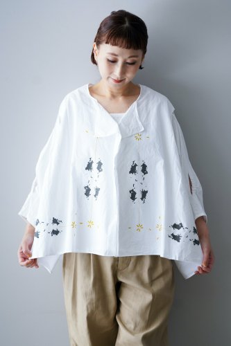 D-due Wide Blouse(White)