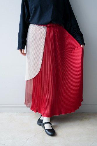 BANSAN Pleats Skirt(Red)