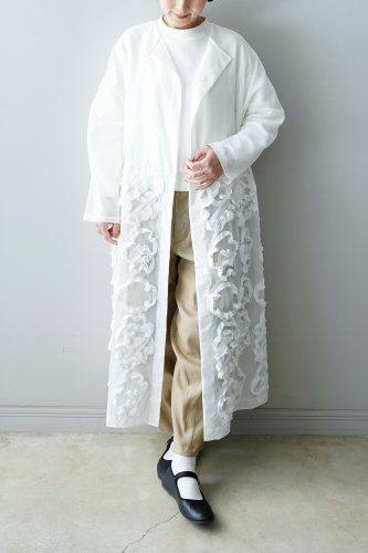 【sale】mudoca 「 よりみちの並べ方」-GOWN(Off-white)-20%OFF
