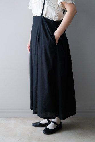 gasa* grue  Suspenders skirt  (Black)