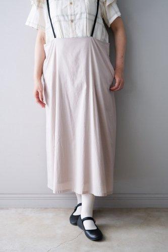 gasa* grue  Suspenders skirt  (Black+Beige pink)