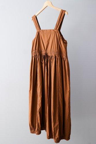 UNIVERSAL TISSU Cotton dump gather salopette  skirt(Navy)