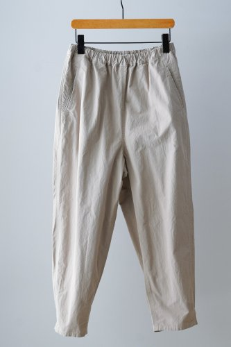 UNIVERSAL TISSU  Tapered cotton Pants (Off-white)
