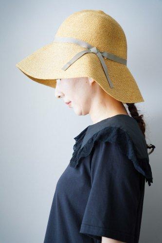 abu  Thin ribbon Straw hat (Beige)
