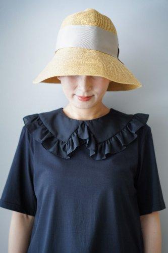 abu  Thick ribbon Straw hat (Beige)