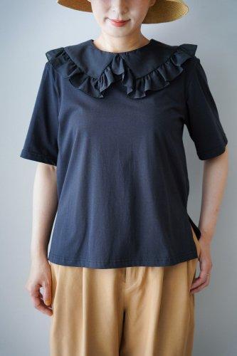 【sale】Heriter Race collar T-shirt (Black01)-20%