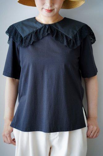 【sale】Heriter Race collar T-shirt (Black02)-20%OFF