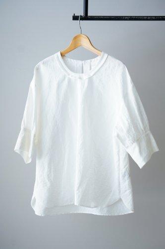 SI-HIRAI cotton linen pullover (White)