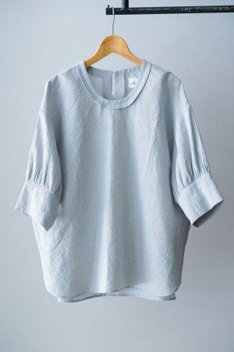 SI-HIRAI cotton linen pullover (Gray)