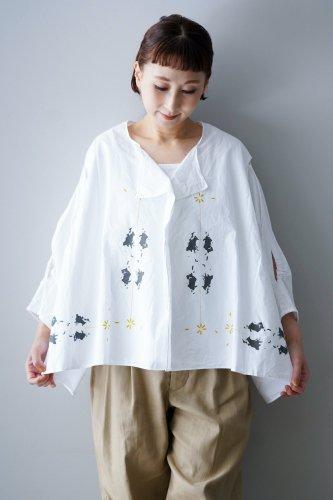 【sale】D-due Wide Blouse(White)-30%OFF