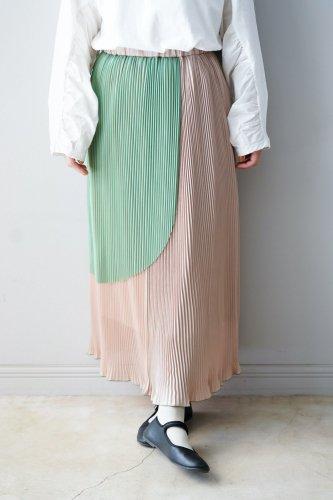【sale】BANSAN Pleats Skirt(Beige)-20%OFF