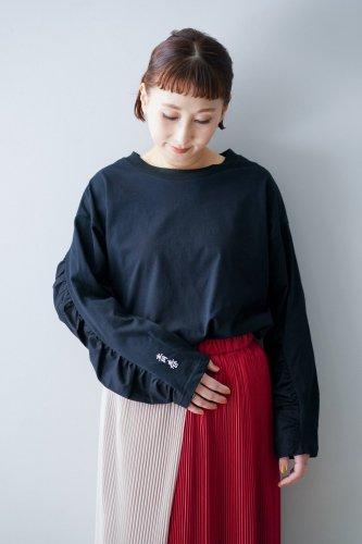 【sale】youmolaugh 「青春」Long T-shirt(Black)-30%OFF