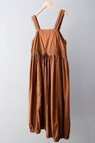 【sale】UNIVERSAL TISSU Cotton dump gather salopette  skirt(Navy)-10%OFF