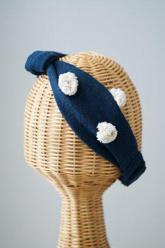 【sale】バラ色の帽子 Dots Turban(Navy)-20%OFF