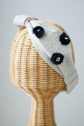 【sale】バラ色の帽子 Dots Turban(Beige)-20%OFF