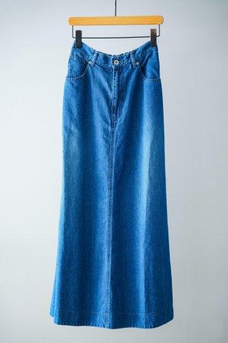UNIVERSAL TISSU Cotton linen denim skirt (indigo bio)