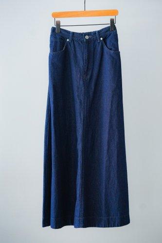 UNIVERSAL TISSU Cotton linen denim skirt (indigo blue)