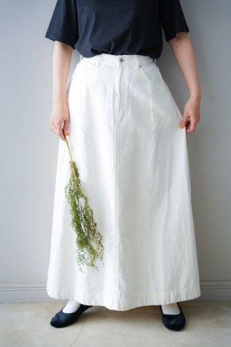UNIVERSAL TISSU Cotton linen skirt (Off-white)
