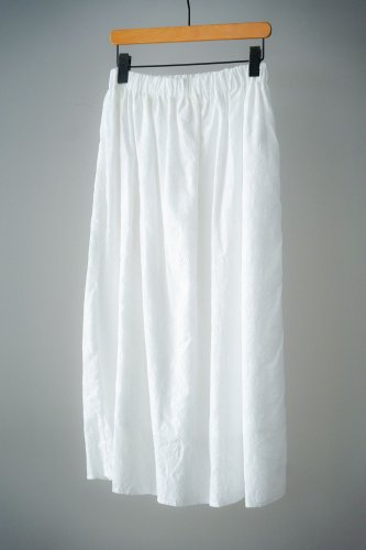 LILOU+LILY embroidery Skirt  (Off-white×Off-white)