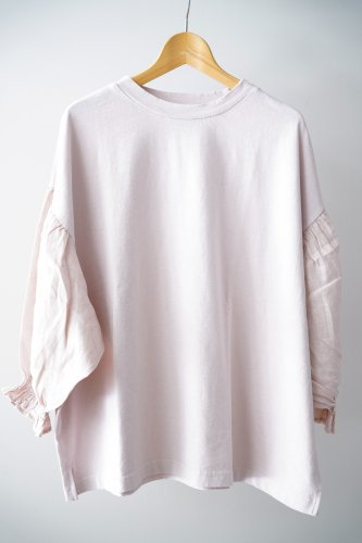 UNIVERSAL SEVEN  Combo sleeve pullover(Smoky pink)