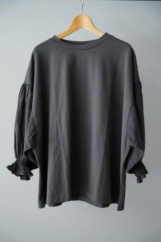 UNIVERSAL SEVEN  Combo sleeve pullover(Dark gray)