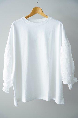 UNIVERSAL SEVEN  Combo sleeve pullover(White)