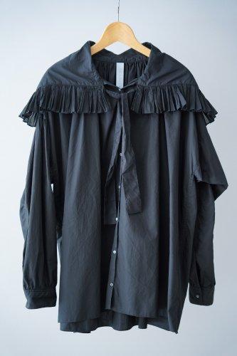 STASTNY SU Ruffle color Blouse(Black)
