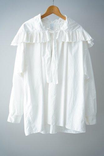 STASTNY SU Ruffle color Blouse(White)