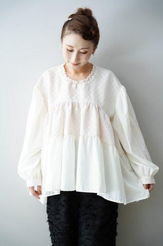 HOUGA poppy blouse(White)