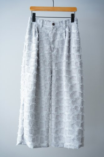 LILOU+LILY Fringe pants  (Gray)