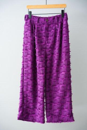 LILOU+LILY Fringe pants  (Purple)
