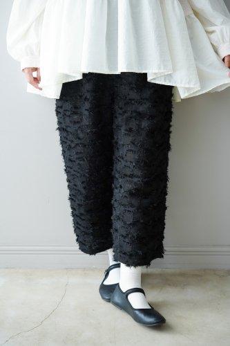 LILOU+LILY Fringe pants  (Black)